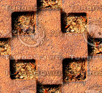 Rusty metal grid 5