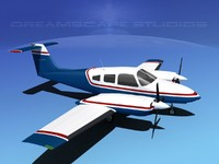 3d piper seminole pa-44-180t turbo model