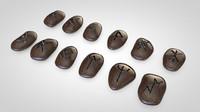 rune stones 3d c4d