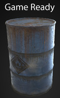 oil barrel 3d ma