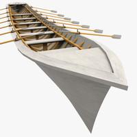 row boat 3d model