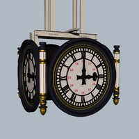 3d clock waterloo railway station model