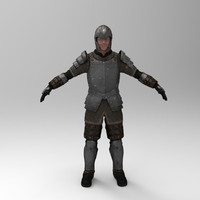 3ds max knight games - iron armor