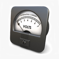 analog ac voltmeter 3d 3ds