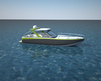 cinema4d motor boat