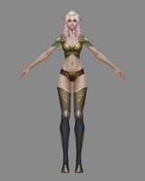 3ds max elf woman
