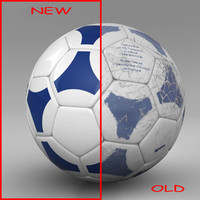 3d ball soccer blue