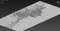 chicago city skyline massing 3d model