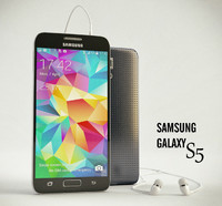 smartphone samsung galaxy s5 3d model