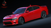 3d dodge charger srt hellcat model