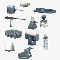 3d model warship supplies package