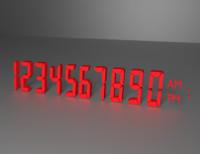 8-bit numbers 3d model