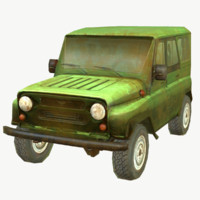 3d model of russian suv