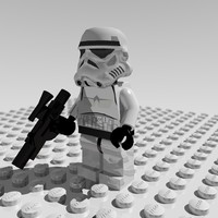 3d model of stormtrooper lego