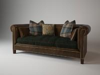 brompton sofa 911-01 ralph 3d max