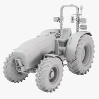 3d model argon tractor