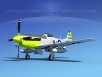 3d engine p-51 mustang fighter model
