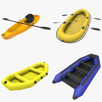 recreational watercraft 3d fbx