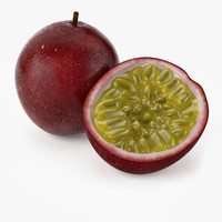 3d realistic passionfruit real fruit