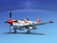 p-51d cockpit propeller 3d 3ds
