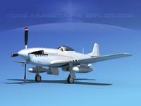 p-51d cockpit propeller 3d model