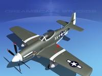 dxf cockpit p-51-d