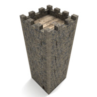 medieval stone tower 3d 3ds