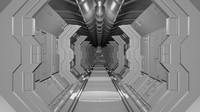 spaceship corridor 3d model