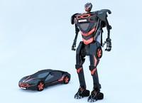 3d bmw i8 robot transformer autobot