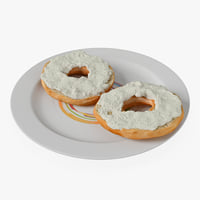 bagel cream cheese 3d c4d