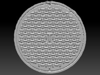 scan manhole cover 3d model