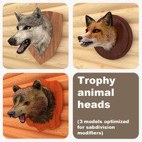 3dsmax trophy animal heads