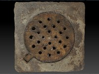 scan rusted drain obj
