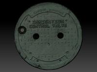 scan manhole cover 3d model
