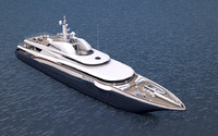 3d yacht anastasia model