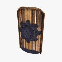 shield armor armour 3d model