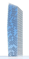 3d contemporary skyscraper model