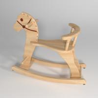 3d model horse balance kids