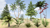 plants grass trees pack x