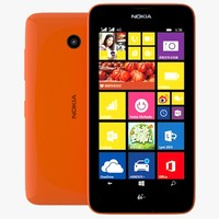 3d model nokia lumia 638 orange