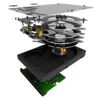 3d model hard drive
