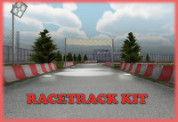 3d model racetrack kit race track