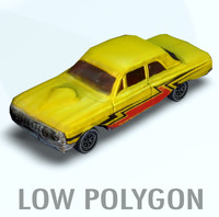 3d model car polygons
