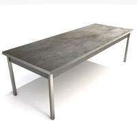metal table desk 3d 3ds