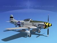 cockpit p-51-d dxf