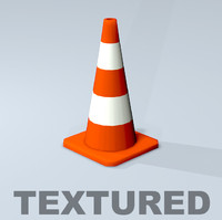 3ds traffic cone