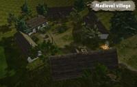 3d medieval village assets houses