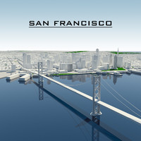 3d model san francisco cityscape