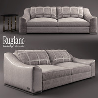 3d rugiano golden sofa model