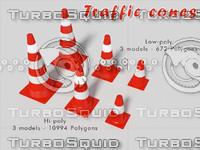 3d traffic cone model